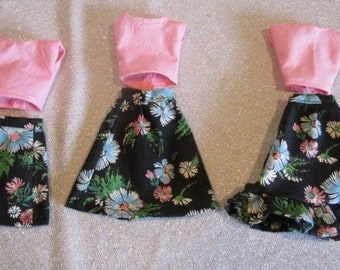 Plus Size Barbie Outfits, Spring Flowers - Handmade
