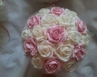 Foam rose bridesmaid bouquet