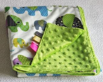 Minky baby blanket comforter