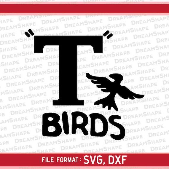 t birds logo svg cut files grease logo 50s t birds dxf