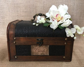 Wedding Trunk,  Wedding Card Holder, Card Box, Money Holde, Rustic Tropical Wedding,  Beach wedding, Wedding Suitcase, Rustic Wedding Trunk