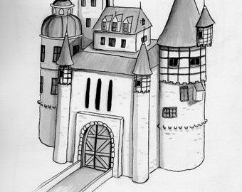 Castle Illustration print