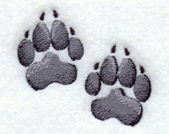 Dog Paw Prints Embroidered Flour Sack Hand/Dish Towel