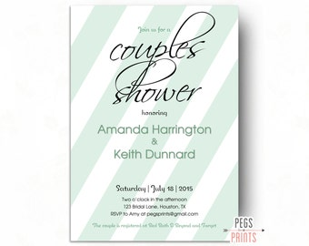 Couples Wedding Shower Invitation - His and Hers Shower Invitation - Couples Wedding Shower Invite - Printable Couples Shower Invitation