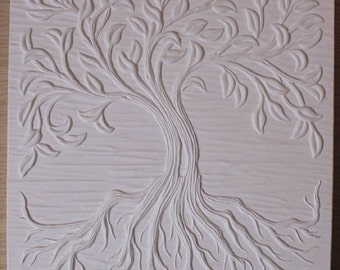 12 x 12 Inch Tree of Life Texrure Tile Mold for Glass Fusing and Slumping