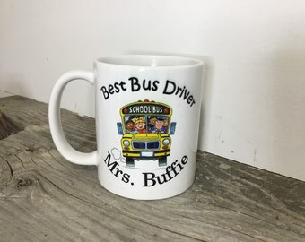 School Bus Driver Gift - Bus Driver Gift - Stocking Stuffer - School Bus Mug - Mugs with Saying - Christmas Gift for School - Gift under 20