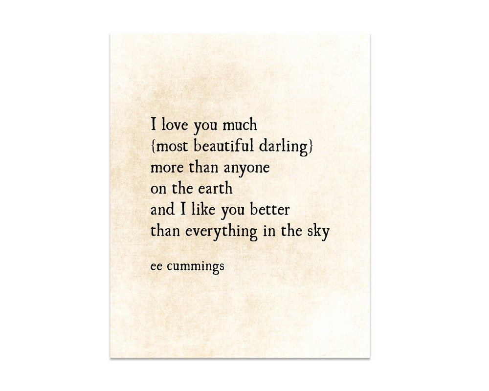 Quote On Love Romantic Quote I Love You Much Literary Quote Love Quote