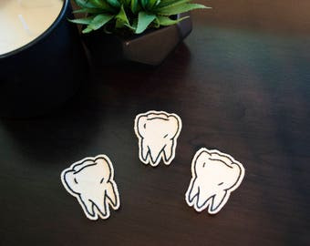 SALE Wisdom Tooth Iron-On Canvas Patch