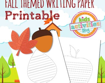 Fall Theme Writing Paper Printables for Kids