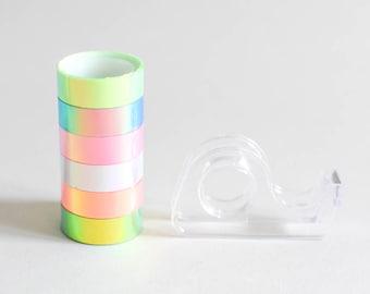 Essayez la bande holo Pack, bande holographique, bande iridescente, rose abricot Washitape, ruban T008