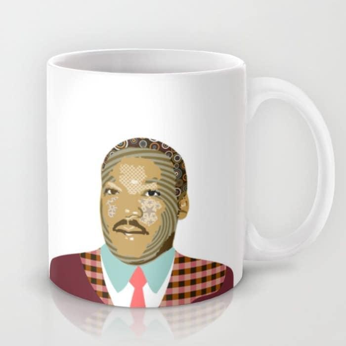 Martin Luther King Coffee Mug Black History Month Civil