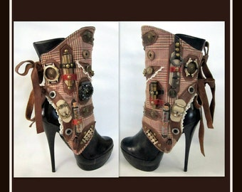 Steampunk Spats - Military Inspired - Spats- By J Souza- One Of A Kind-