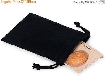 Mothers Day Sale 100 Pack Deep Black Velvet Drawstring Bags great for Weddings, Party favors, Jewelry, Etc