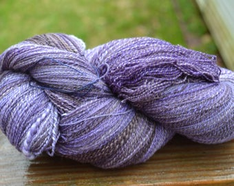 Purple Handspun 2-ply Laceweight