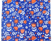 """Blue Tulips Tea Towel 100% cotton, 20""""x30"""", comes in a gift packaging with a complimentary recipe card"""