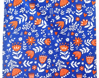 "Blue Tulips Tea Towel 100% cotton, 20""x30"", comes in a gift packaging with a complimentary recipe card"