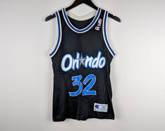Vintage 90s Orlando Magic Shaq Shaquille O'Neal Champion Jersey #32 Size 36 Small