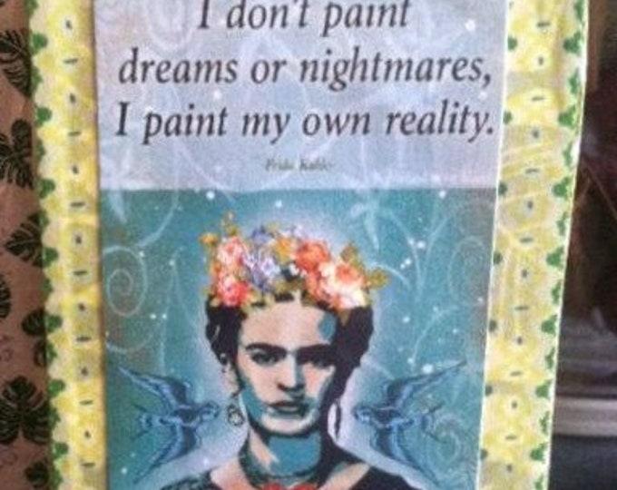 Altered Tin Art Frida tribute free U.S. shipping