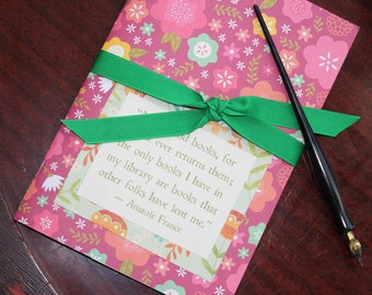 QUOTEBOOK - a Space for Your Favorite Quotes - Reader Diary - Book Journal - Reader Gift - Reading Journal