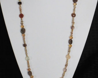 Beige and brown necklace
