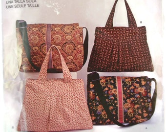Easy to Sew Simplicity 2750 Messenger Bag and Handbag Sewing Pattern 2008 Uncut