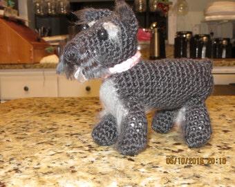 Amiguri Mini Schnauzer Crochet Dog