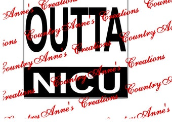 "SVG PNG DXF Eps Ai Wpc Cut file for Silhouette, Cricut, Pazzles  -""Straight outta Nicu"" customize any straight outta anything you like svg"