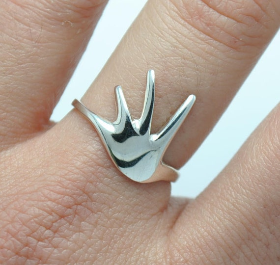 Silver ring - Modern ring - design ring - hand ring - woman ring - gift for a woman - valentine day's