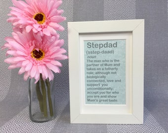 Step Dad Gift - Step Father Gift - Stepdad Father's Day - Step Dad Fathers Day - Stepdad Gift - Step Dad Frame - Step Dad Birthday