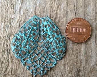 1 pc Filigree Patina Pendant, Filigree Pendant, Patina Charm, Bohemian Pendant, Jewelry Making, DIY, Craft Supplies, Jewelry Supplies