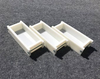 Lot of 3 HDPE Soap Loaf Making Mold 2 - 3 lb per mold CP Mp HP Oven Safe