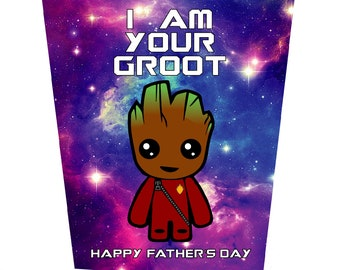 I Am Your Groot Vol 2 Father's Day Card