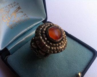 Antique Tibetan Ring, Vintage Jewels, Hard Stone-ancient Tibetan Ring, vintage Jewelry, gemstone jewelry
