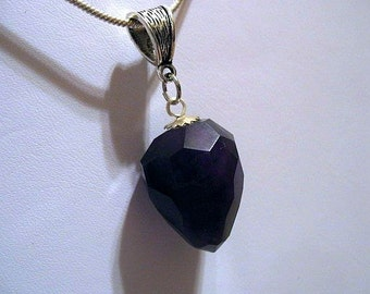 Amethyst pendant, February Birthstone Pendant, Purple Stone Pendant