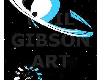 Original Interstellar Art Print Movie Poster