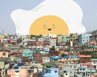 Sunny Side Up Over Busan art print