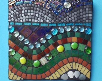 Mosaic Abstract landscape wall art
