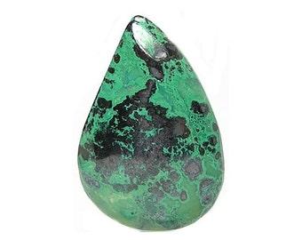Chrysocolla with Metallic Hematite Semiprecious GemStone Cabochon Southwestern Jewel Copper Mineral Gem, DIY Craft