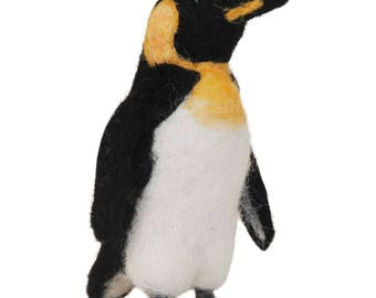 King Penguin: Needle Felted Collection Hand Made in Alpaca Fiber
