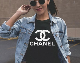 Coco Chanel Logo Paris Women T-shirt, Inspired Tee For Women, For Her, Designer Design, Hype Beast, Streetwear Fashion, Limited