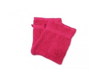 Cotton washcloth Terry Rose Fushia