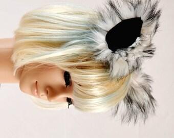 Wolf Husky Ears Clip On in Faux Fur