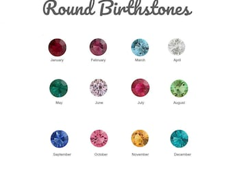 Birthstone Floating Charm for Glass Locket, 5MM LARGE ROUND CRYSTAL Charms for Memory Lockets, Personalized Floating Locket Pendant Charm.