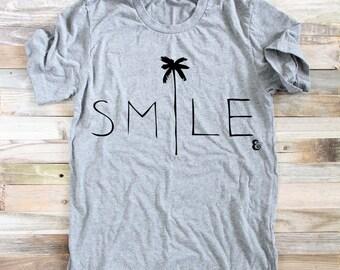 Smile Beach Shirt- Women's Shirts - Surfer Girl - Women's Clothing - Shirts for Women - Graphic T - Surf Shirt - Surfer Shirt - Beach Shirt