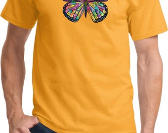 Men's Neon Butterfly Tee T-Shirt 20995NBT4-PC61