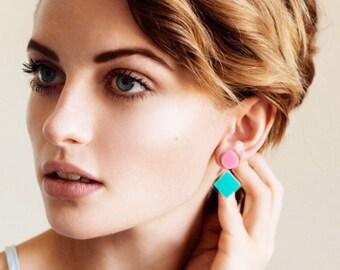 Happy Totem Studs - Laser Cut Acrylic Earrings - Each To Own