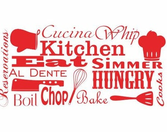 Wall Decals for Kitchen:  Enjoy Your Meal Decal,Vinyl Art Decal, Home Decor, Kitchen Decor, Dining Room Walls, Baking Decals, Gifts for Her