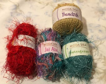 Fur fun yarn, yarn skein, colorful yarn skein