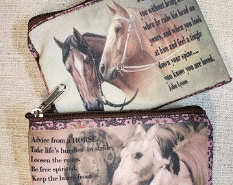 Horse Themed Coin Purse -- Free Shipping