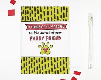Congratulations New Pet Card Furry Friend